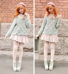 Anna Salo - Monki Sweater, American Apparel Socks, Jeffrey Campbell Shoes - Pastel spring