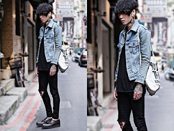 IVAN Chang - Vintage Jacket, Topshop Skinny - 160413 TODAY STYLE