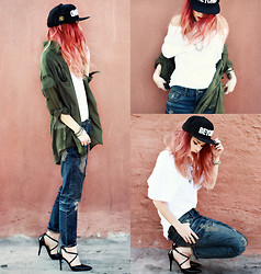 Lua P - Cap, Sophiscat Pants And Blouse, Shoes, Sheinside T Shirt - Beyond.
