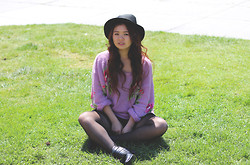 Cindy C. - Forever 21 Fedora, Wildfox Couture Sweater, Romwe Boots - Got summer on my mind