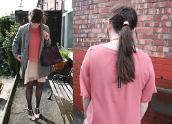 Ashley F - Primark Bobble, Vintage Blouse, Topshop Dress, Vintage Shoes - All the Pinks