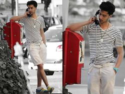 Rayan Benhammadi - Bershka T Shirt, Bershka Short, Adidas Shoes, Ice Swatch Watch - CALL ME FOR A MINUTE.
