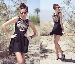 Dani Roxanne - H&M Tigress Dress - Coachella Day 3
