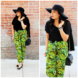 Kimberly Anne S. - Forever 21 Floppy Hat, Forever 21 Tropical Pants - No Place I'd Rather Be