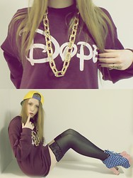 Joana-Kristin Soost - Asos Necklace, Circular Dope Sweater, Adidas Lakers Snapback, Jeffrey Campbell Heels - IF THE DRUGS DONT WORK THEN YOU PROBABLY NEED MORE.