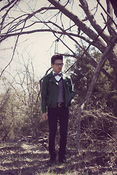 Jeremy Cunanan - H&M Green Leather Motercycle Jacket - Emerald city