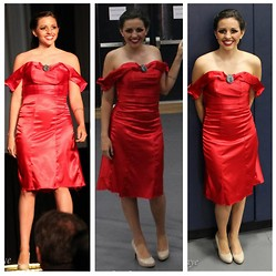 E.B. Berger - Ebz Designs Red Cocktail Dress - O' on the Rubway, The Cocktail Dress