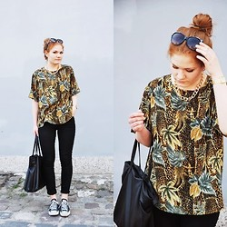Violet G. - Second Hand Blouse - TROPICAL PRINT
