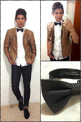 Christian Barrera P. - Zara White T Shirt, Zara Jacket, Zara Black, Zara Bow Tie - Birthday Party !!!