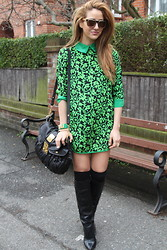 Tamara Kalinic - Choies Dress, Miu Bag, Zara Boots, H&M Bracelets, Vintage Sunglasses - Vintage makes Perfect