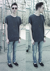 Andrew Eirich - H&M Oversized T Shirt, Nudie Jeans Light Wash - Ready, Set, Spring.