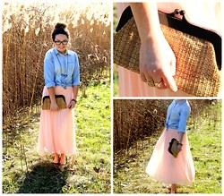 Amber Dryden - Forever 21 Chiffon Maxi Skirt, Thrift Store Raffia Clutch, H&M Ballet Flats, Forever 21 Rings - Maximize Your Maxi