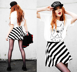 Ebba Zingmark - French Rdv Cap, Romwe T Shirt, Romwe Skirt, Iclothing Creepers - The best part is yet to come