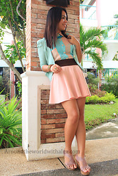 Alex Zeta - Mint Green, High Waist, Sheer - Summer Time!