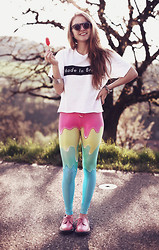 Jessica Christ - Romwe Sunglasses, Brashy Made In Tee, Romwe Melting Leggings, Choies Shoes - BE BRIGHT, BE YOU.