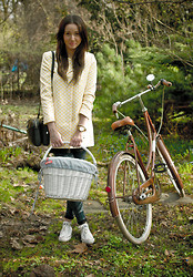 Malgorzata Figat - Zara Yellow And White, Converse Classical Model, Topshop Pants, Zara Black - Ready for a Bicycle Tour