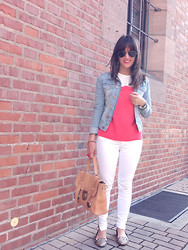 Vanessa P. - Maje Shirt, Zara Jeans, Su Shi Bag - Easy Breezy Afternoon