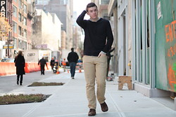 Ryan Charchian - Vince Pullover, American Eagle Denim, American Eagle Oxfords - Keep it simple
