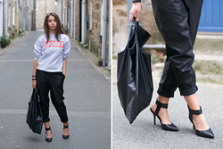 COCO CHIC - 21st Century Clothing Sweater, Asos Track Pants, Cheap Monday Bag, Steve Madden Heels - (Dis)obey