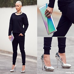 Micah Gianneli - Kzeniya Holographic Leather Clutch - Join My Militia