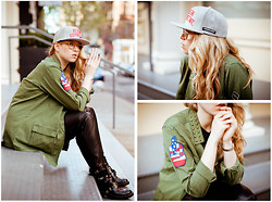 Sophia S - Supreme Cap, Urban Outfitters Shirt, Acne Studios Leather Trousers, Balenciaga Boots - Reigning Supreme in NYC