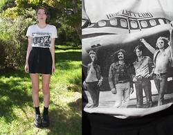 Freya C - Gift Led Zeppelin Shirt, Thrifted Black Pleated Skirt, Creepers - ☼ DAZED AND CONFUSED ☼