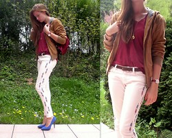 Julia C. - Bomboogie Italy Leather Jacket, H&M Shirt, Zara Jeans, Vintage Bag - Come along with me