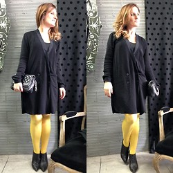 Tu Personal Shopper By Marta Antolinez - Zara Dress, Vintage Bag, Zara Studded Booties - Yellow+black!