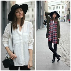 Paulien R - H&M Hat, H&M Shirt, H&M Bag, Zara Cardigan, Zara Scarf, H&M Skinny Jeans, H&M Ankle Boots - The new icons