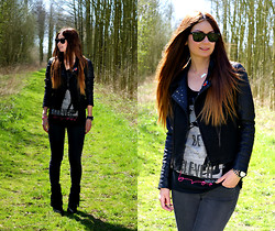 Larissa Verbon - The Sting Biker Jacket, The Sting Tanktop, H&M Jeans, The Sting Fringe Boots - Representing Brood