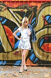 Lindsay Simon - Wildfox Couture Shirt, Dsw Heels, Urban Outfitters Vest, American Apparel Sunglasses - All In One!