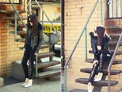 Tessa M - Icb Prabal Gurung Leather Jacket, Céline Wedges - GOLDEN HOUR