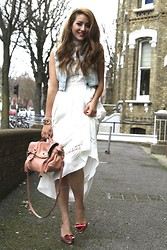 Tamara Kalinic - Miss Selfridge Dress, Vivienne Westwood Shoes, Mulberry Bag, Zara Waist Coat - Too cool for a white dress