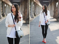 Patrycja R -  - WHITE BOMBER JACKET + RED