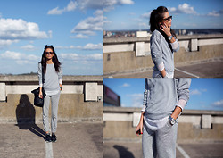 India Rose - Topshop Sweater, Cos Salt And Pepper Trousers, Free People Mesh Top, Reebok Sneakers - UNTITLED