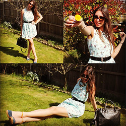Teral Atilan - Ray Ban Sunglasses, Zara Neclace, Alexander Mcqueen Belt, Zara Dress, Kurt Geiger Wedges, Michael Kors Bag - What now?