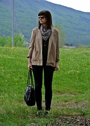 Maja R. - Topshop Scarf, H&M Blazer, Topshop Loafers - Shields, body armors and vests