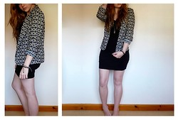 Savannah Zoë Thompson - Primark Geometric Blazer, H&M Bodycon Dress, Hamsa Hand Necklace - Logical Formation