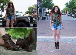 Melody Danian - H&M Army Shirt, Levi's® Vintage Levi's, Steve Madden Combat Boots - All Played Out
