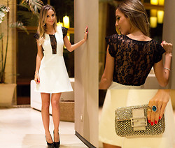 Luisa Accorsi - Jodri Dress, Yves Saint Laurent Shoes, Fendi Clutch - Party