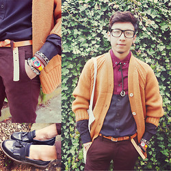 Pratama Putra Dany - H&M Glasses, H&M Shirts, Cardigan, Swatch Watches, H&M Belt, H&M Shoes - 2°C Spring!