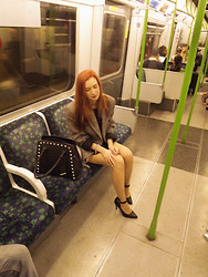 Roxii Hoare-Smith - Primark Bag, Rokit Blazer, Zara Dress, Primark Heels - Going Underground
