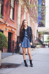Bethany Struble - Boots - Denim Dress in NYC