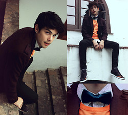Vini Uehara - Marthu Bow Tie, All Sole Men's Shaka Full Grain Leather Lace Up Boots - I've been looking so long at these pictures of you