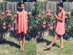 Justina S. - Free People Dress, Handmade Clogs - Rose Girl