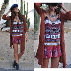 Rae Shoemaker - Urban Outfitters Duster, Urban Outfitters Staring At Stars Boho Romper, Free People Sunnies, Free People Necklace, Urban Outfitters Chelsea Boot - Have you forgotten...