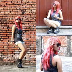 Janille Rose Olegario - Creepers, Team Manila Muscle Tee - Pink Hair ▲