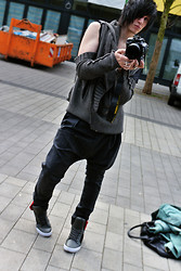 Alexander Borgetto - Givenchy Dropcrotch Pants, Demobaza Cardigan, Supra Sneakers - Modern Tribal Boy
