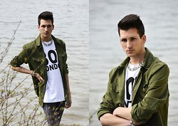MATTHIAS G. - H&M Army Jacket, Boy London T Shirt - HELLO MAY.