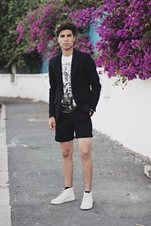 Ayoub Mani - Pull & Bear Blazer And, Tshirt Graniph, Topman Short Top Man, Paul Smith Shoes - Live In Your Strength